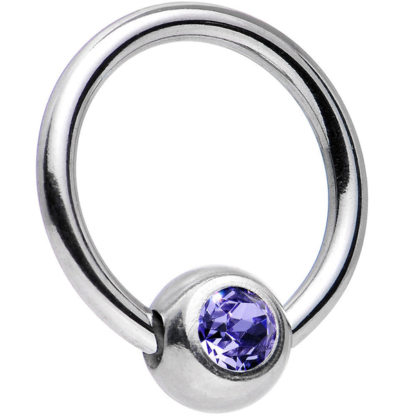 16 Gauge 5/16 Tanzanite Captive Ring Created with Swarovski Crystals