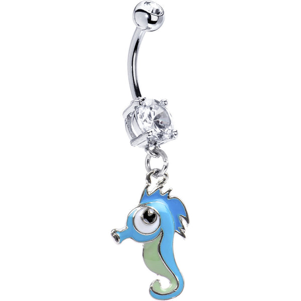 Blue Sea Horse Belly Ring