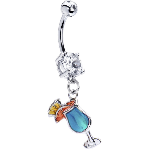 Blue Hawaiian Tropical Drink Belly Ring