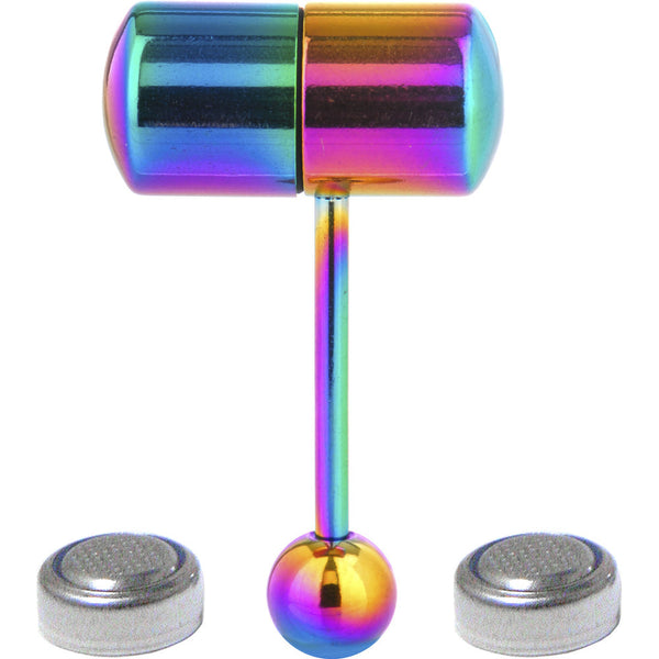 Rainbow Titanium LIX Vibrator Tongue Ring