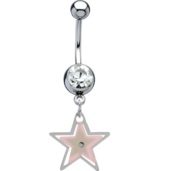 Crystalline Gem Shooting Star Belly Ring