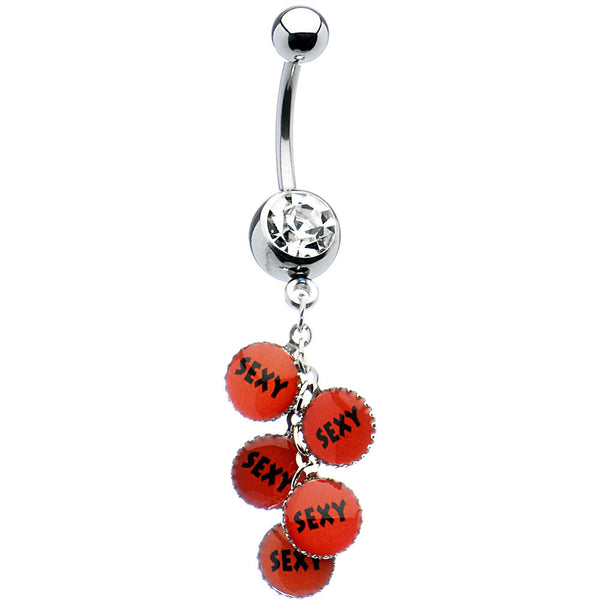 Crystalline Gem Dangling Sexy Belly Ring