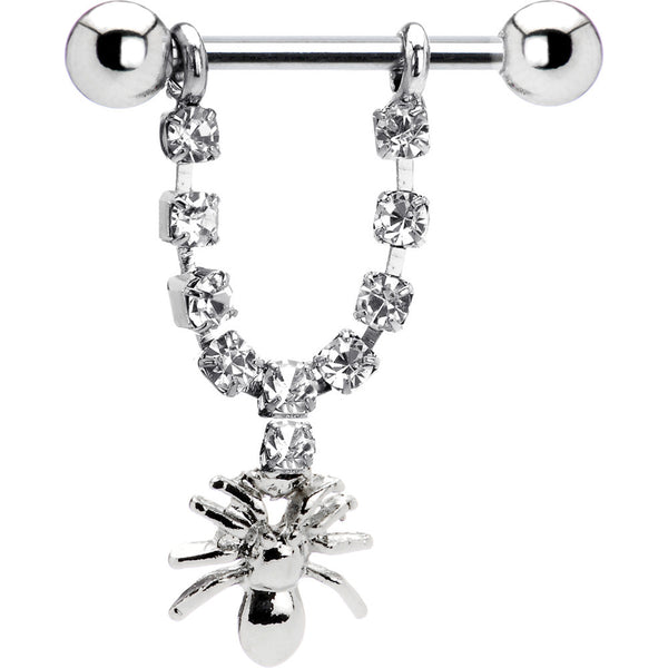 Crystalline Gem Spider Nipple Ring