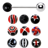 14 Gauge Multi Black 10 Ball Interchangeable Barbell Pack