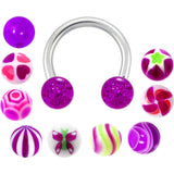 14 Gauge Multi Purple 10 Pair Interchangeable Horseshoe Pack