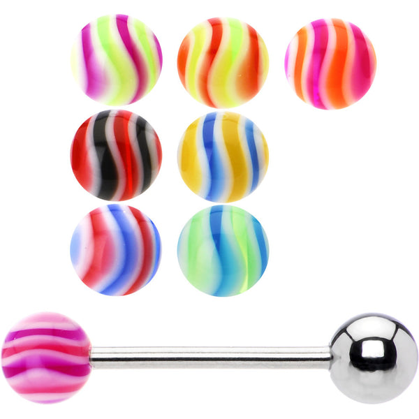 14 Gauge 8 Wave Ball Interchangeable Barbell Pack Set