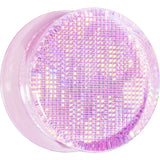 "7/8"" Pink Acrylic Double Flared Metallic Hologram Plug"