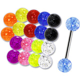 14 Gauge Multi Glitter 10 Pair Interchangeable Barbell Pack