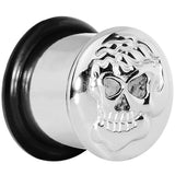 "1/2"" Stainless Steel Single Flare Skull Plug"