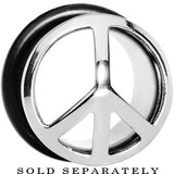 "1/2"" Stainless Steel Single Flare Peace Sign Plug"
