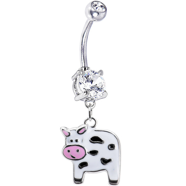 Cute Moo Moo Cow Belly Ring