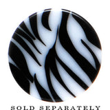 6 Gauge Black White Zebra Striped Saddle Plug