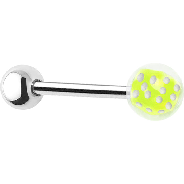 Bubble Ball Green Dice Barbell Tongue Ring