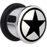 "1/2"" Stainless Steel Black Star Plug"