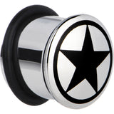 9/16 Stainless Steel Black Star Plug