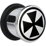 "1/2"" Stainless Steel Black Iron Cross Plug"