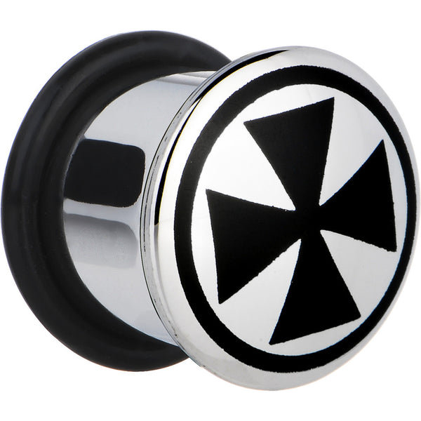 1/2 Stainless Steel Black Iron Cross Plug