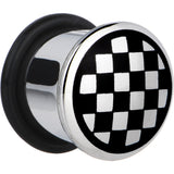 1/2 Stainless Steel Black  Checker Board Plug