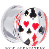 00 Gauge Acrylic Playing Card Suit Poker Saddle Plug