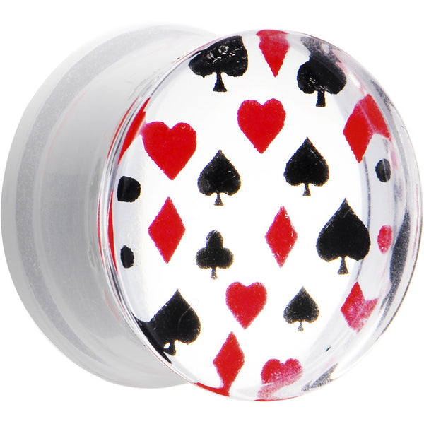 9/16 Acrylic Playing Card Suit Poker Saddle Plug