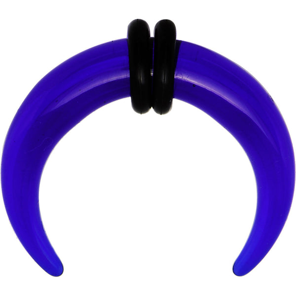 4 Gauge Blue Acrylic UV Buffalo Taper