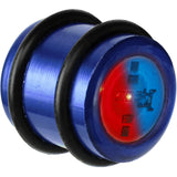 16mm Blue Anodized Titanium Blinking Plug
