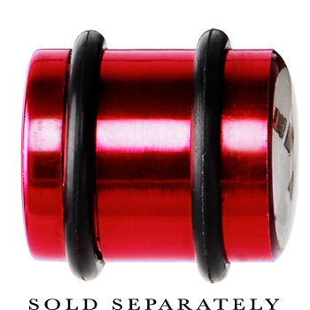 14mm Red Anodized Titanium Blinking Plug