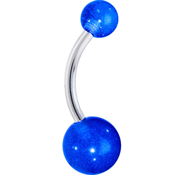 BOLD BLUE Belly Button Ring