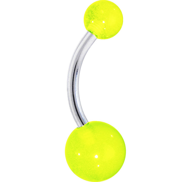 Neon Green Glow in the Dark Acrylic Ball Belly Ring