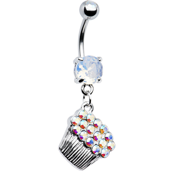 Cubic Zirconia Sparkling Cupcake Belly Ring