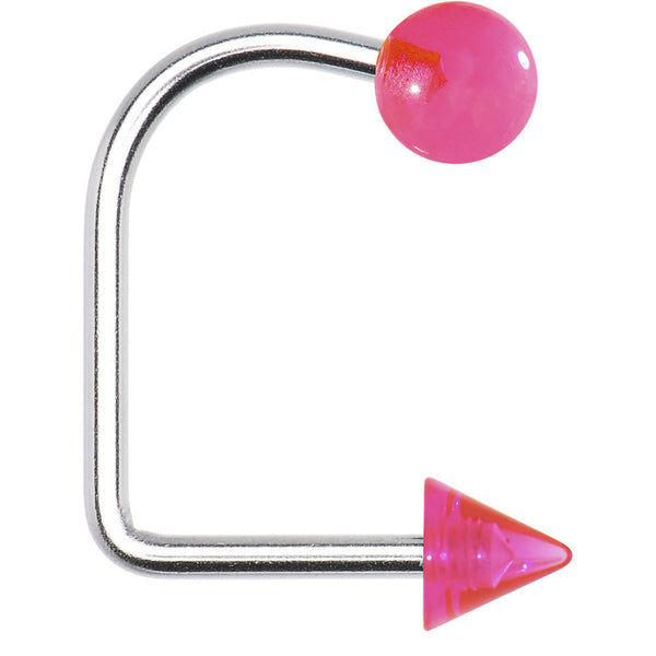 14 Gauge Pink Acrylic Ball Cone Lippy Loop Labret