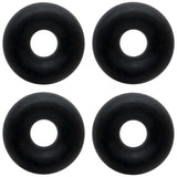 10 Gauge Black Rubber O-Ring 4-Pack