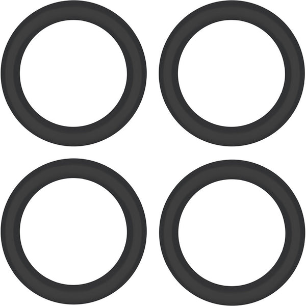 "1/2"" Black Rubber O-Ring 4-Pack"