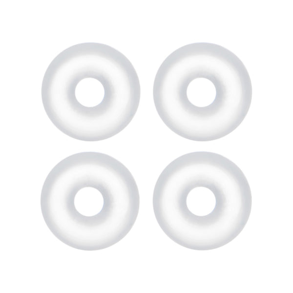 14 Gauge Clear Rubber O-Ring 4-Pack