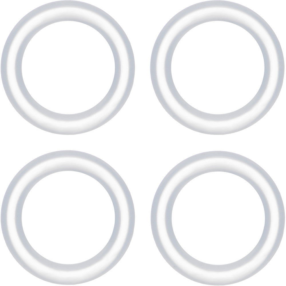 00 Gauge Clear Rubber O-Ring 4-Pack – BodyCandy