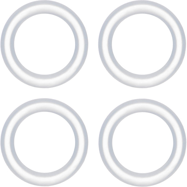 00 Gauge Clear Rubber O-Ring 4-Pack