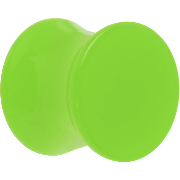 00 Gauge Lime Green Acrylic Saddle Plug