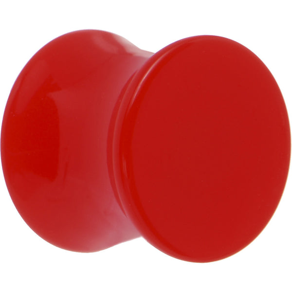 00 Gauge Red Acrylic Saddle Plug