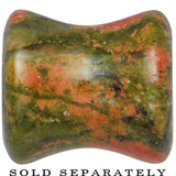 00 Gauge Double Flare Unakite Natural Stone Tunnel