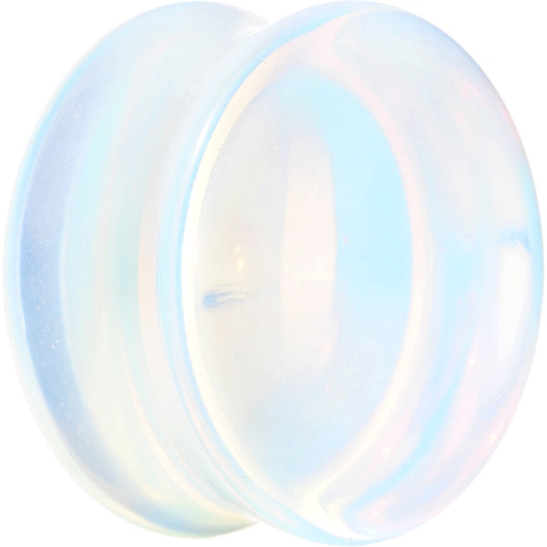 "1"" Double Flare Opalescent Moonstone Saddle Plug"