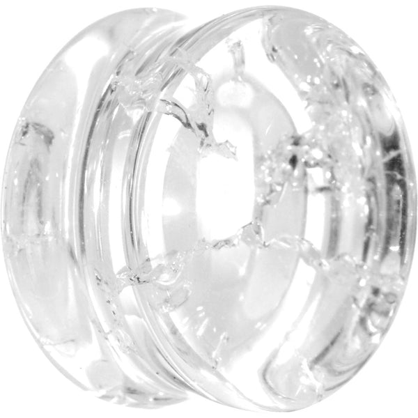 "7/8"" Double Flare Clear Crack Stone Plug"