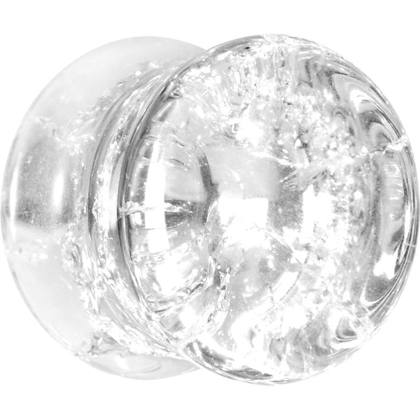 "9/16"" Double Flare Clear Crack Stone Plug"
