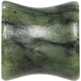 "7/16"" Double Flare Jade Natural Stone Concave Plug Set"