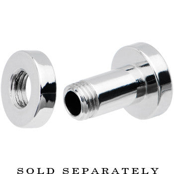 6 Gauge Stainless Steel Multi Gem Screw Fit Tunnel