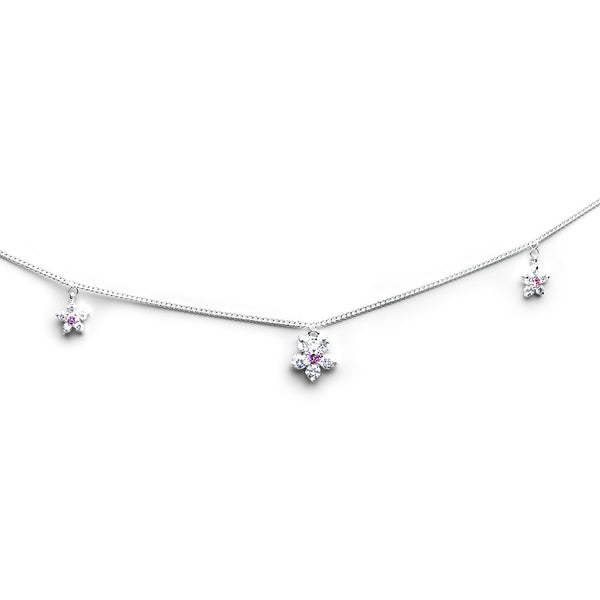 Cubic Zirconia Pretty Petals Flower Belly Chain
