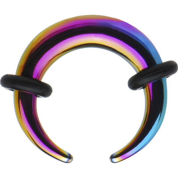 6 Gauge Rainbow Anodized Titanium Buffalo Taper
