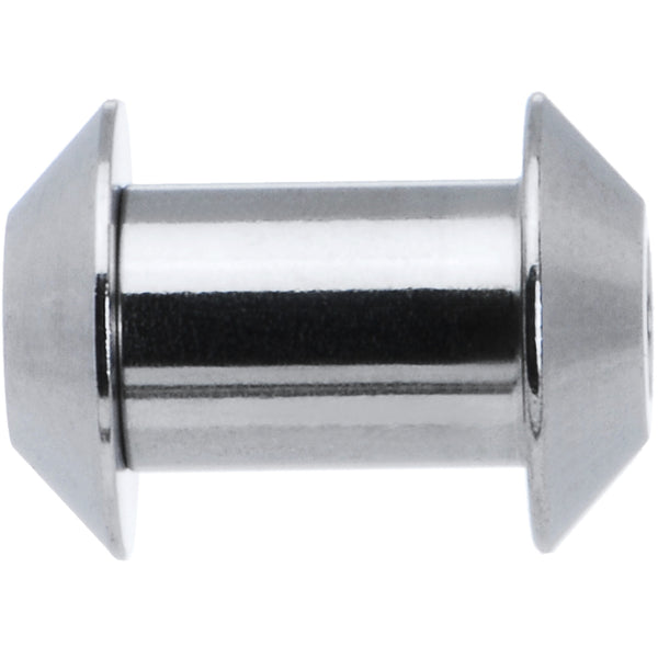 4 Gauge Stainless Steel Cone End Screw Fit Tunnel Plug Set