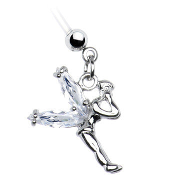 Crystalline Gem Fairy Pregnant Belly Ring