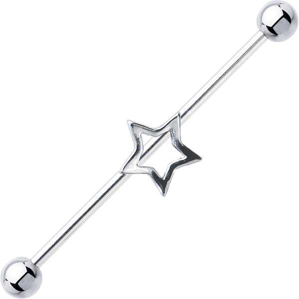 Surgical Steel Hollow Star Industrial Project Bar 37mm