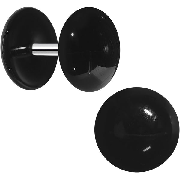 Black Acrylic Dome Cheater Plug Set